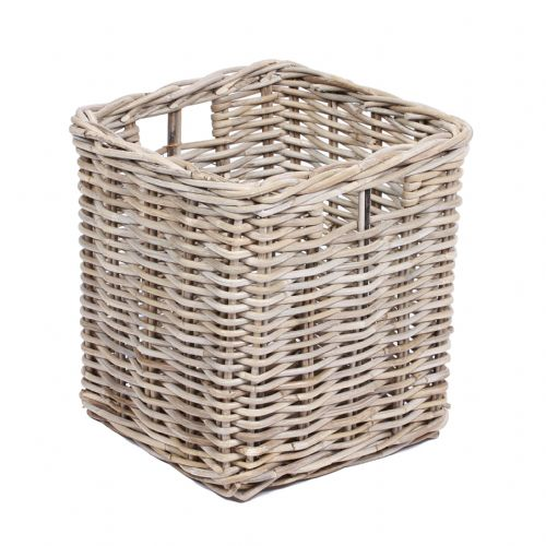 Square Basket with Hole Handles in Kooboo Grey